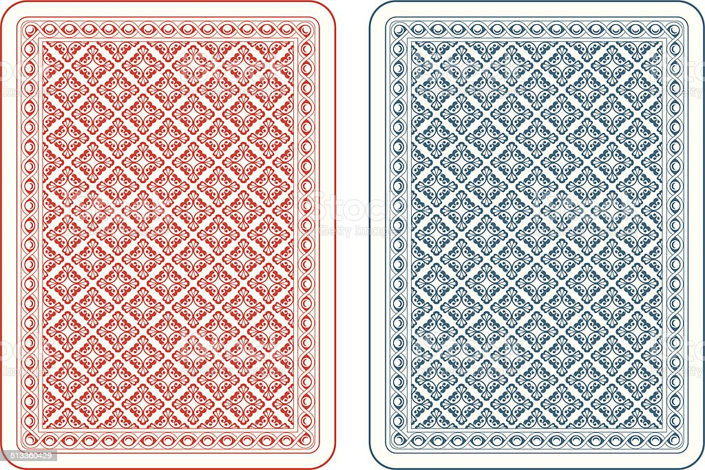 Playing cards back gamma vector art illustration