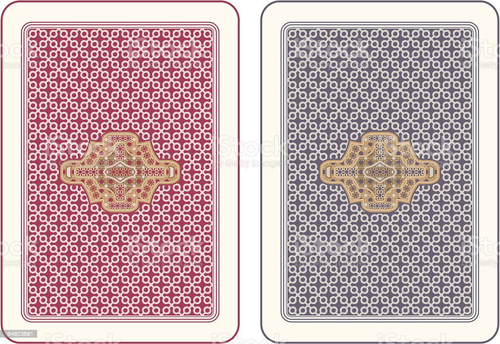 Playing cards back royalty-free stock vector art