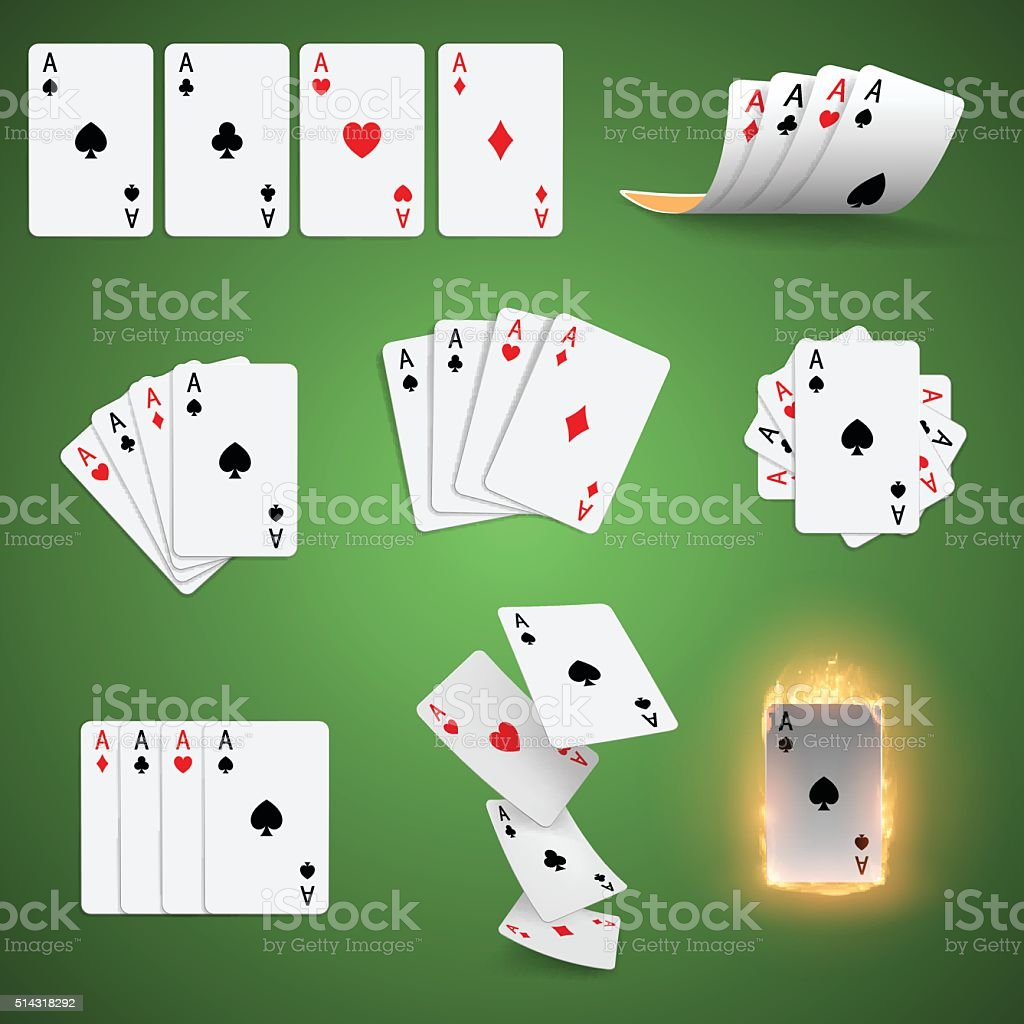 Playing cards set vector art illustration
