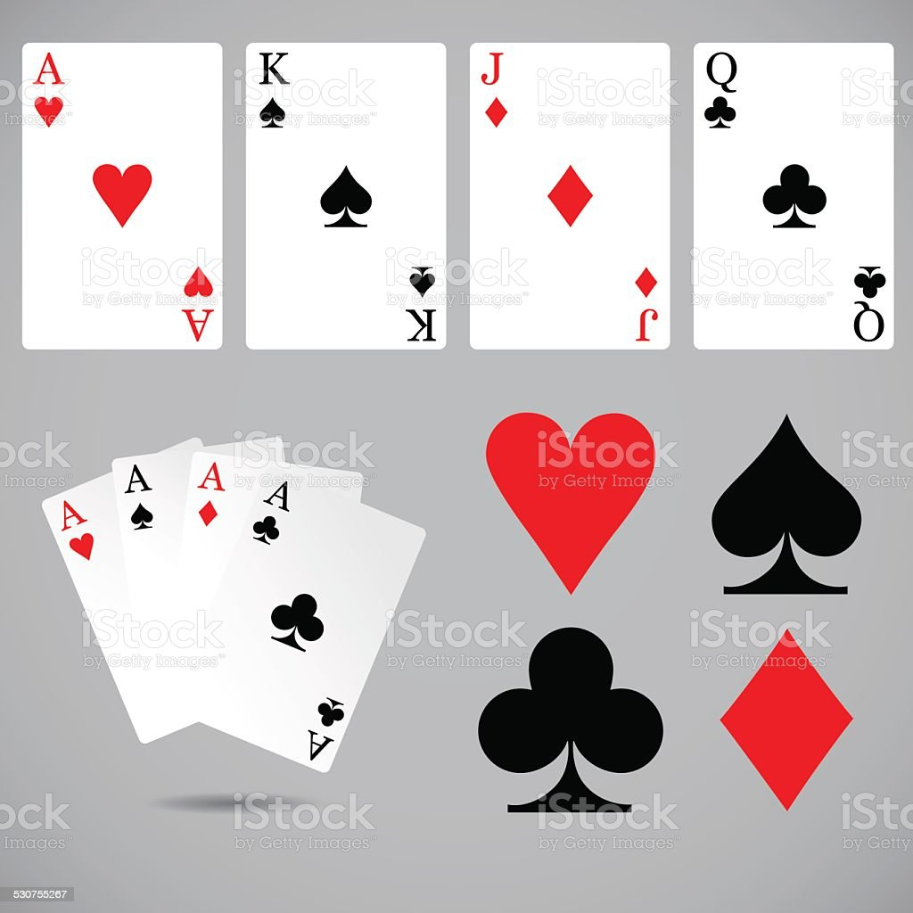 Playing cards set. vector art illustration