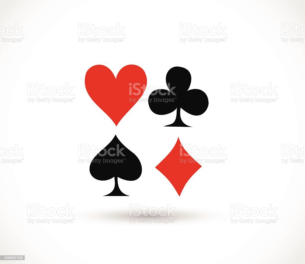 Playing card's signs vector vector art illustration