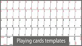 Playing cards template set