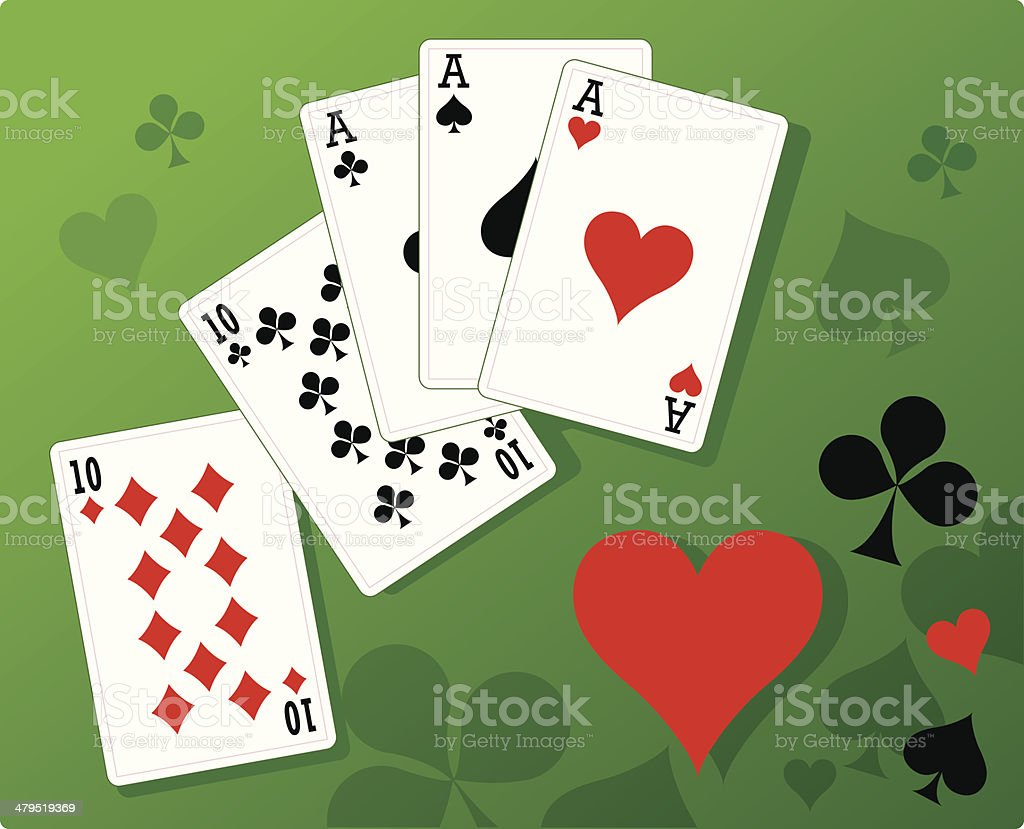 Playing cards royalty-free stock vector art