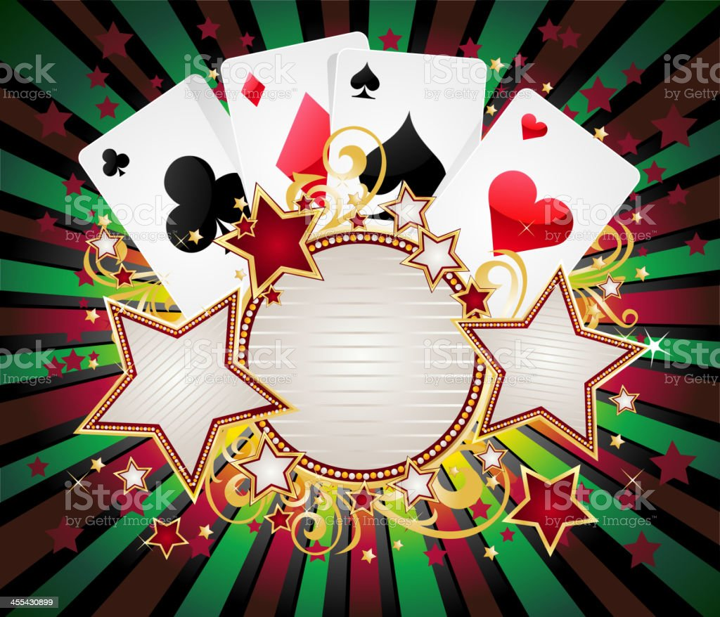 Playing Cards with Round Marquee royalty-free stock vector art