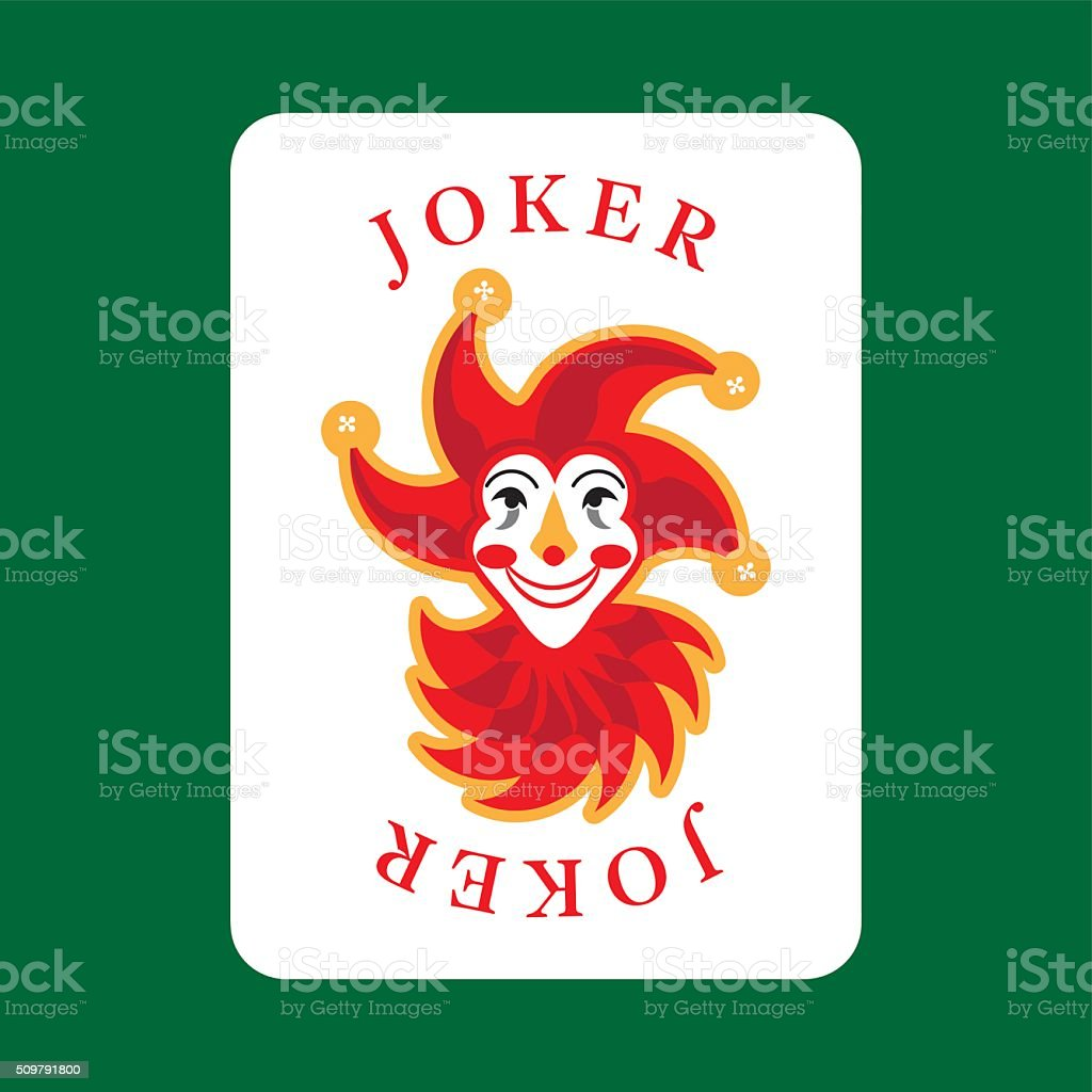 Playing cards with the Joker vector art illustration