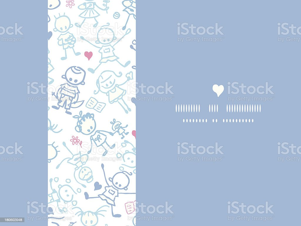 Playing children horizontal seamless pattern background royalty-free stock vector art