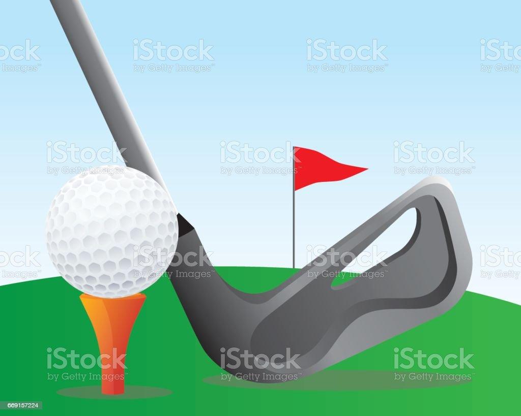 playing golf illustration vector art illustration