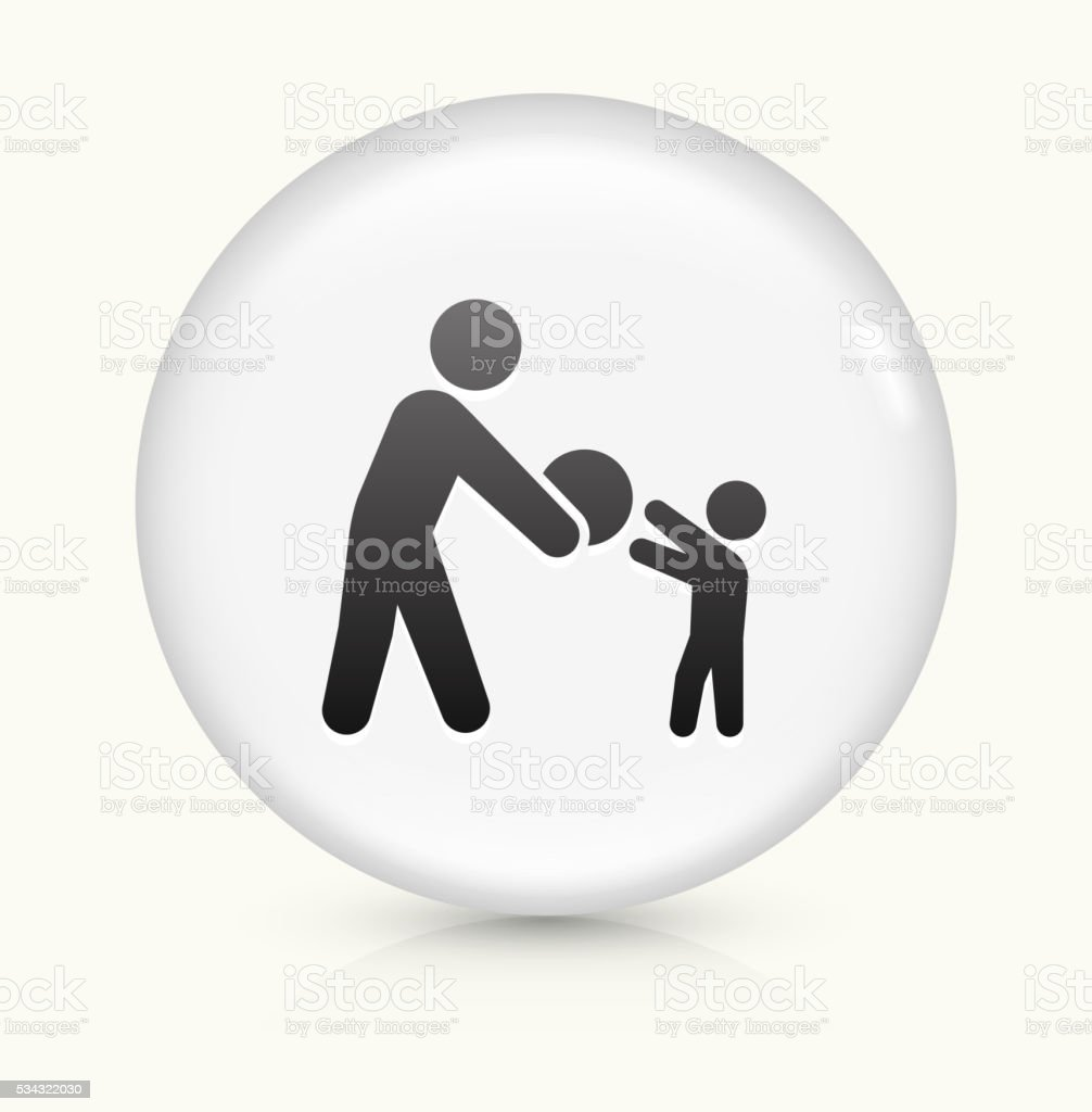 Playing icon on white round vector button vector art illustration