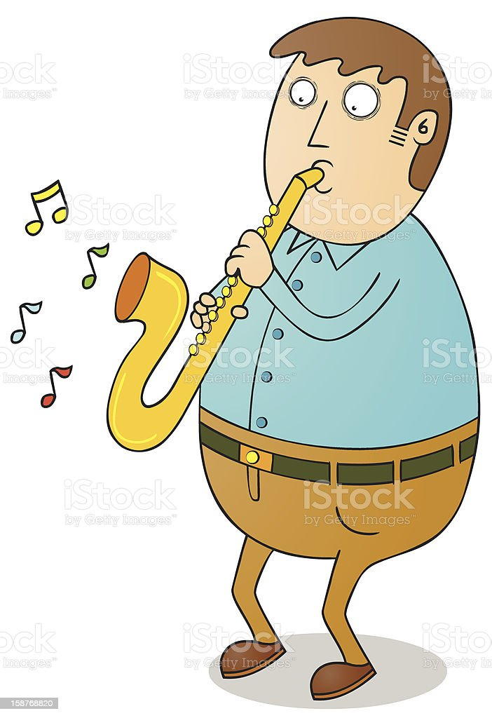 playing saxophone royalty-free stock vector art