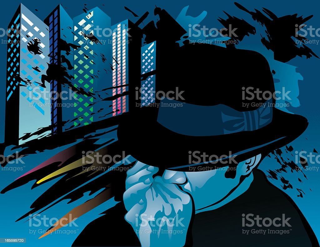 Playing the blues abstract assembly royalty-free stock vector art