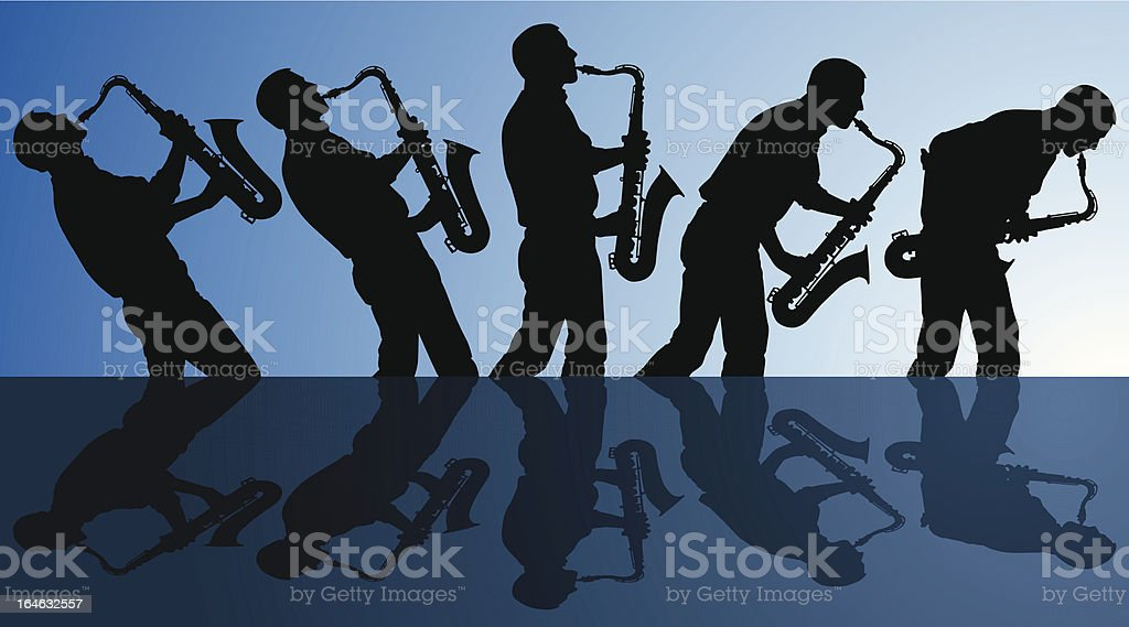 playing the blues royalty-free stock vector art