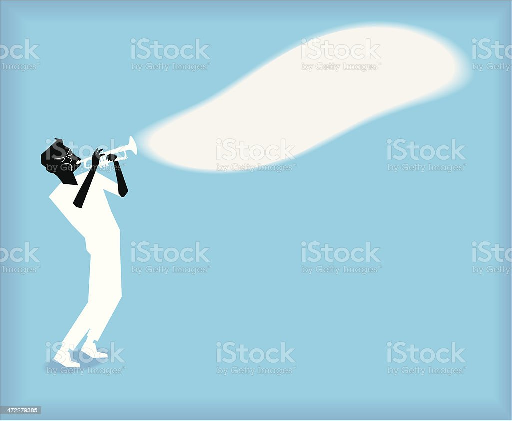Playing the Trumpet royalty-free stock vector art