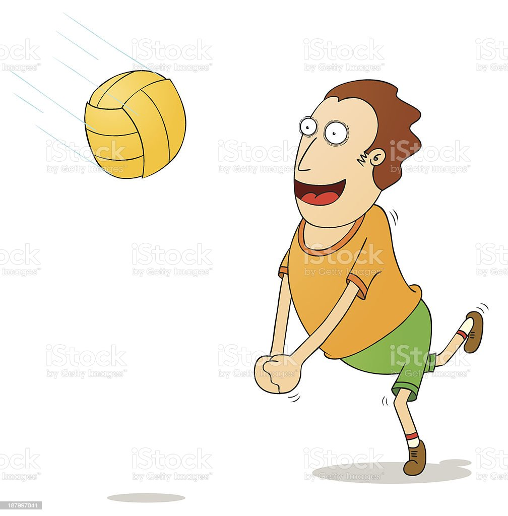 playing voleyball royalty-free stock vector art