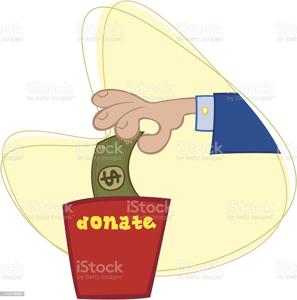 Please Donate - Vector royalty-free stock vector art