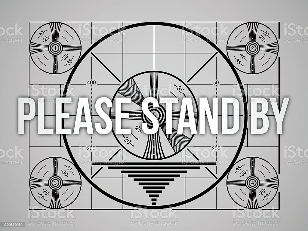 Please Stand By vector art illustration