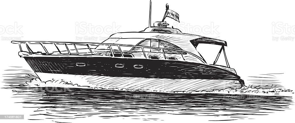 pleasure boat royalty-free stock vector art