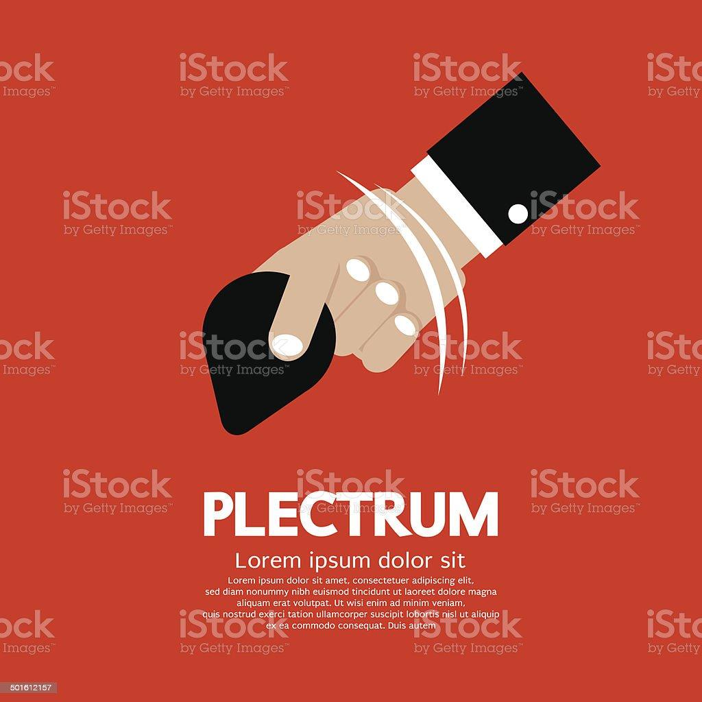 Plectrum In Hand vector art illustration