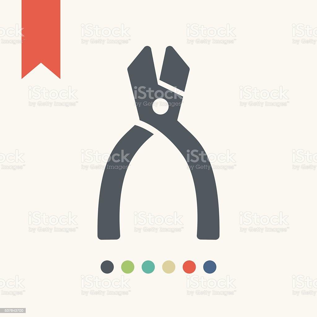 Pliers icon vector art illustration