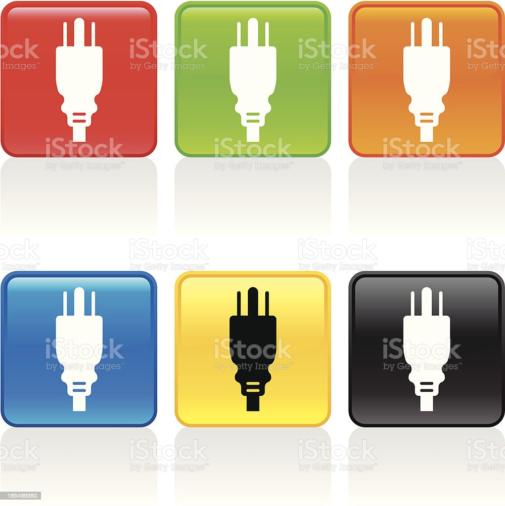 Plug Icon royalty-free stock vector art