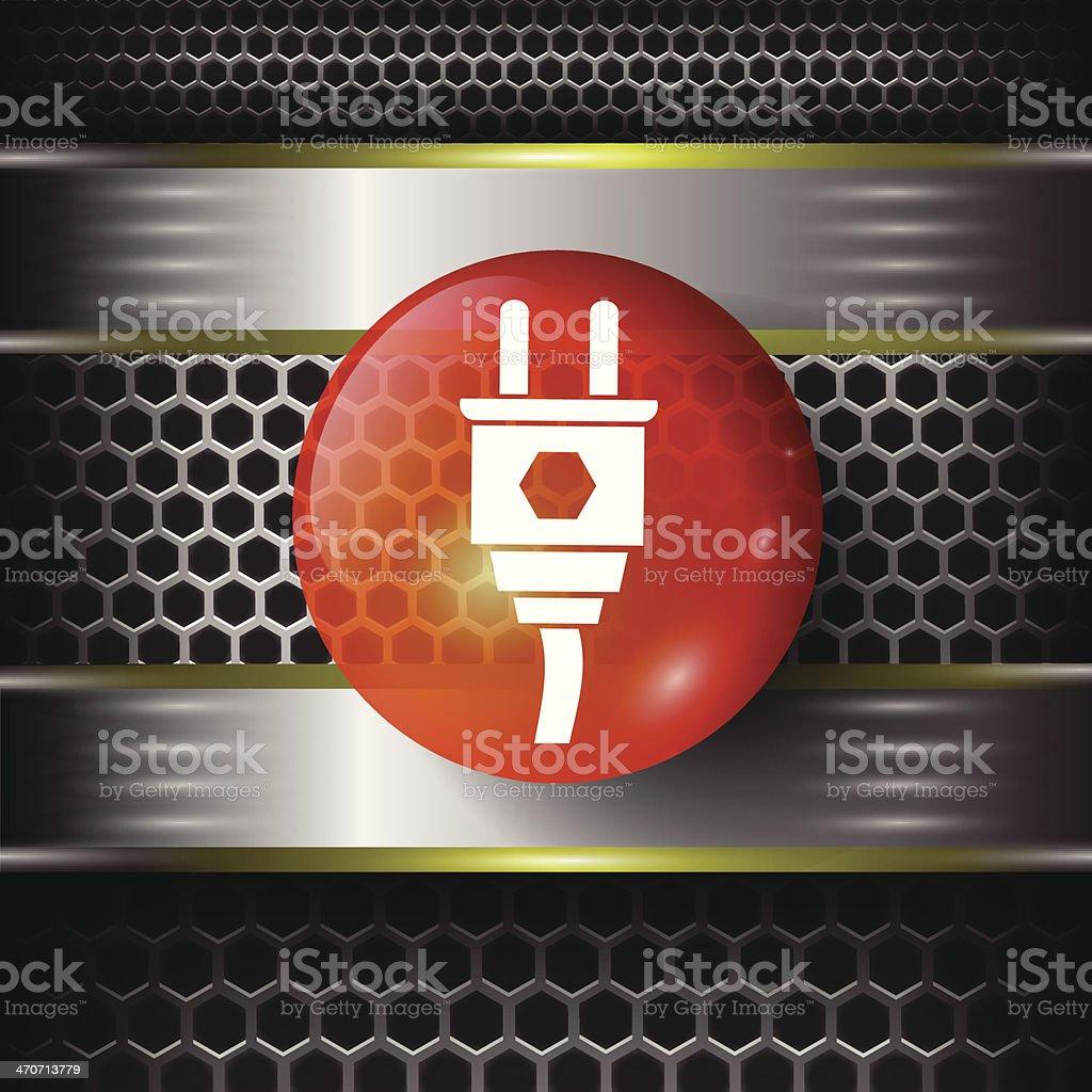 plug icon vector art illustration