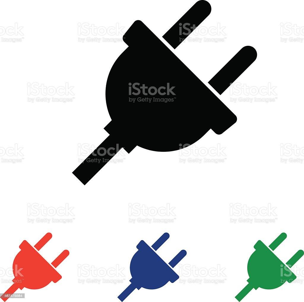 plug icon. vector illustration vector art illustration