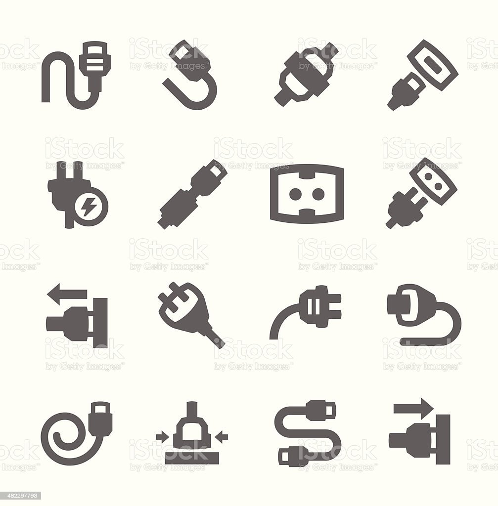 Plug in icons vector art illustration