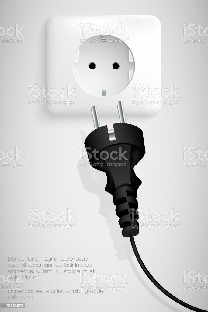 plug royalty-free stock vector art