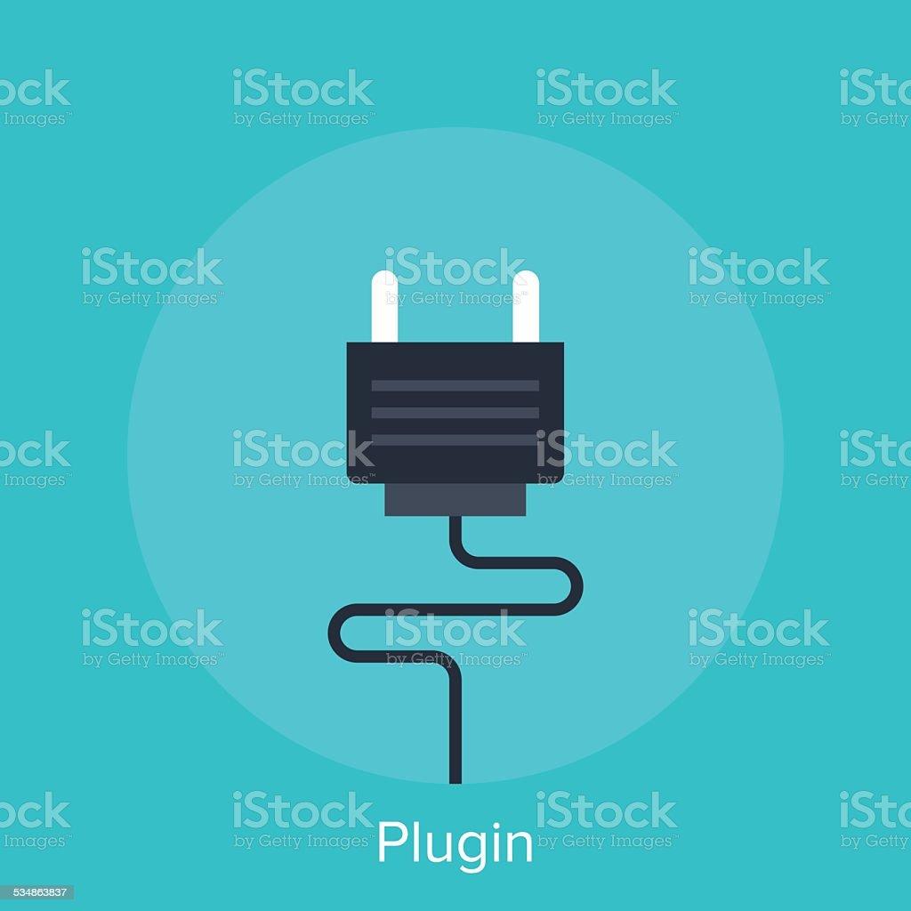 Plugin vector art illustration
