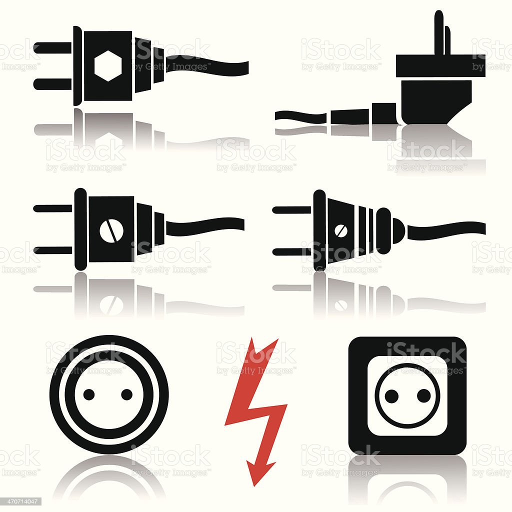 plugs and sockets royalty-free stock vector art