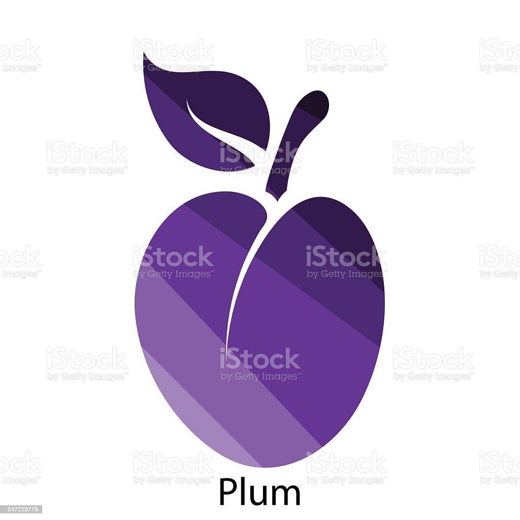 Plum icon vector art illustration