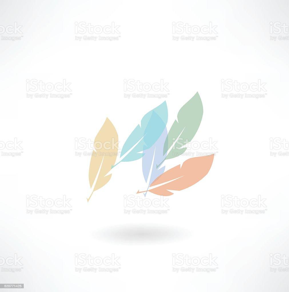 plumage icon vector art illustration