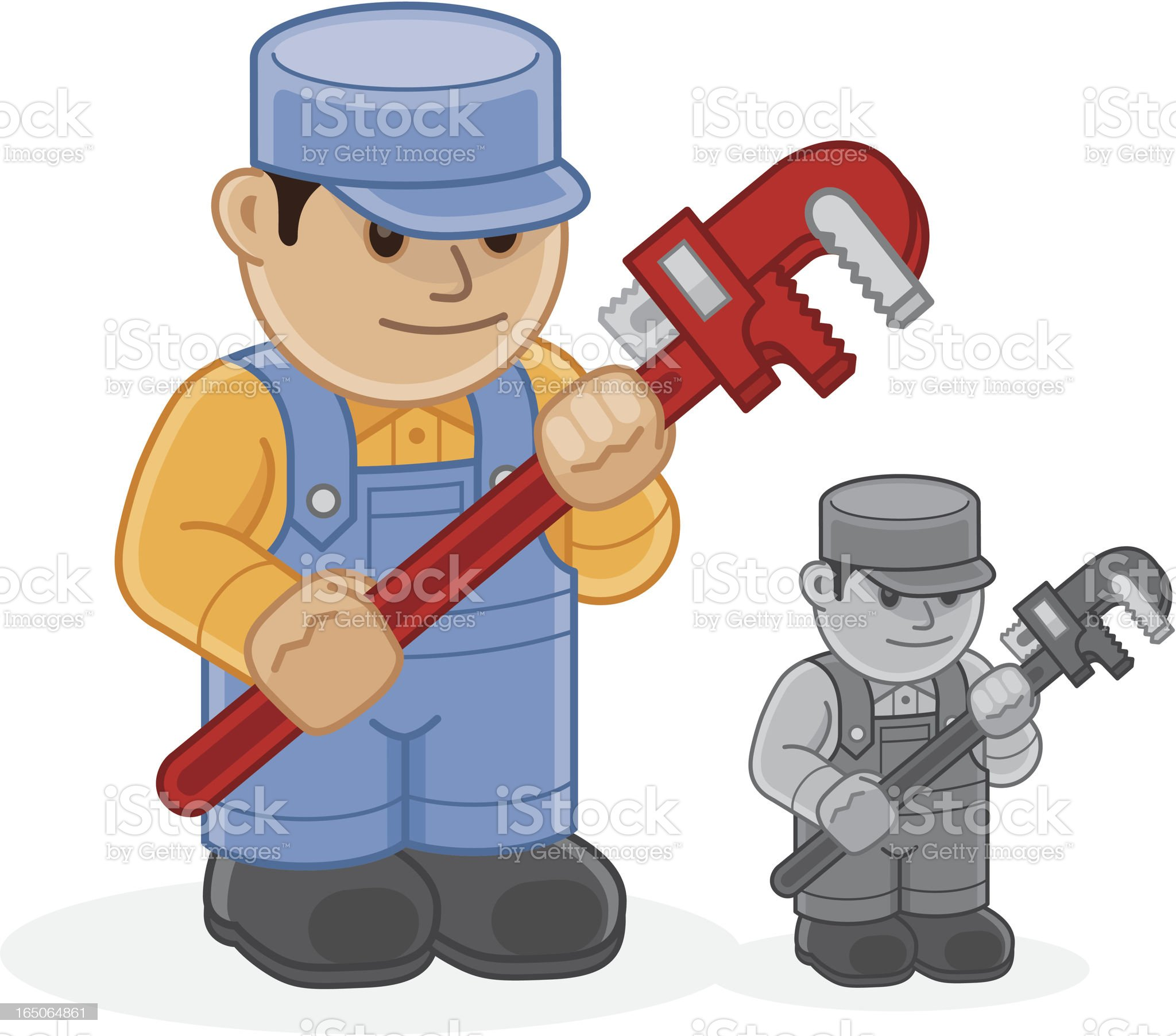 Plumber Icon royalty-free stock vector art