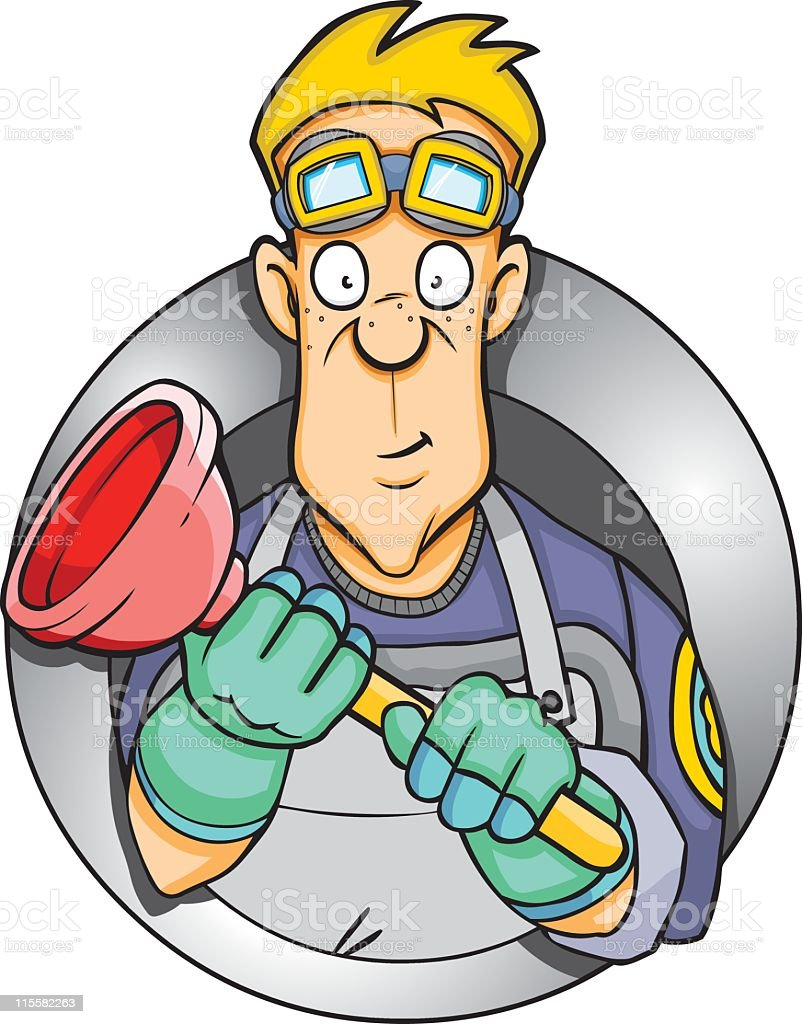 Plumber Plunger royalty-free stock vector art