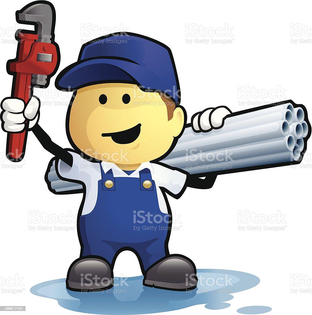 Plumber vector art illustration