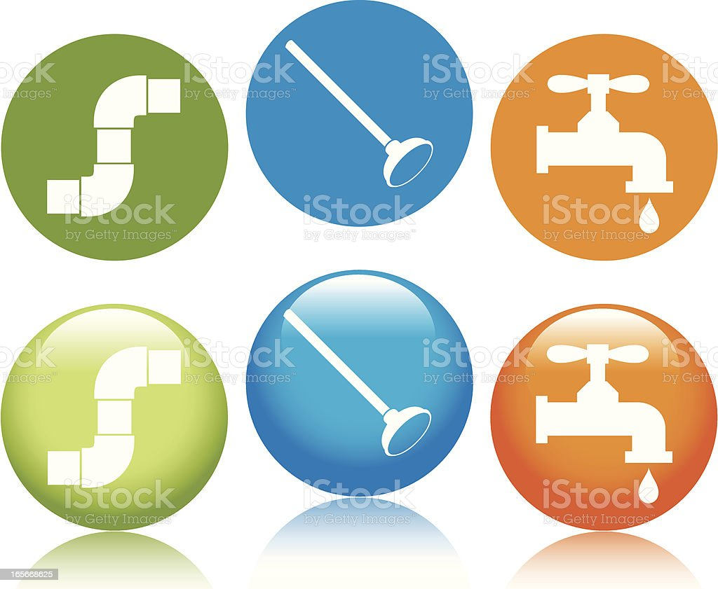 Plumbing Icons royalty-free stock vector art