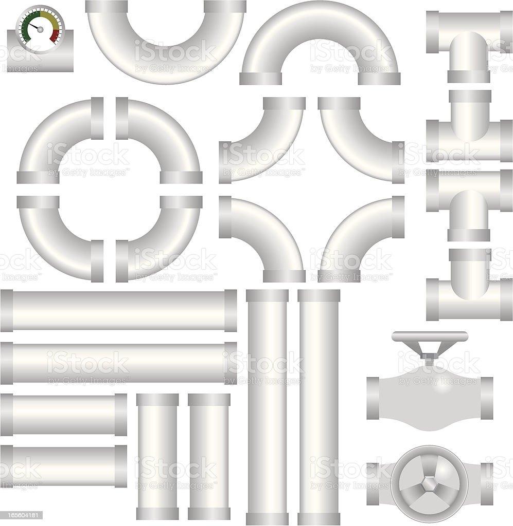 Plumbing kit vector art illustration