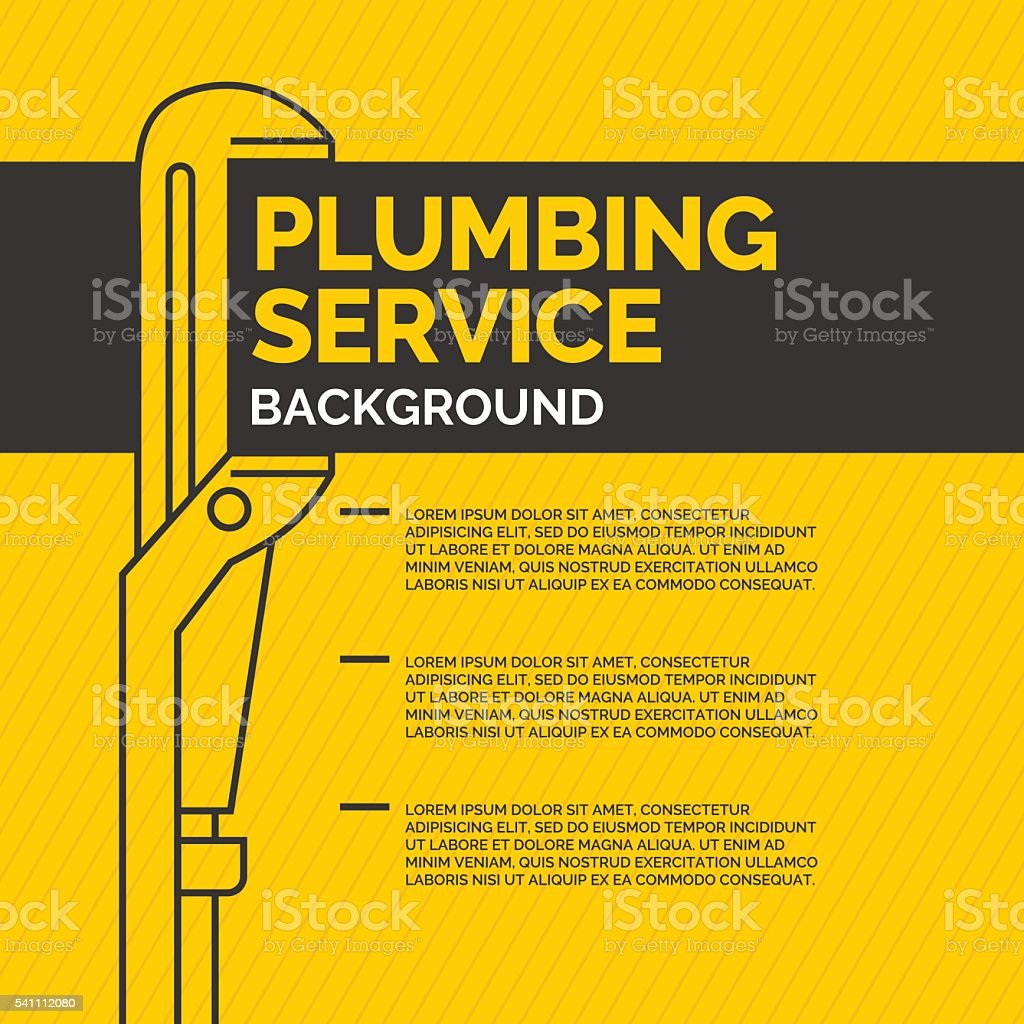 Plumbing service image vector art illustration