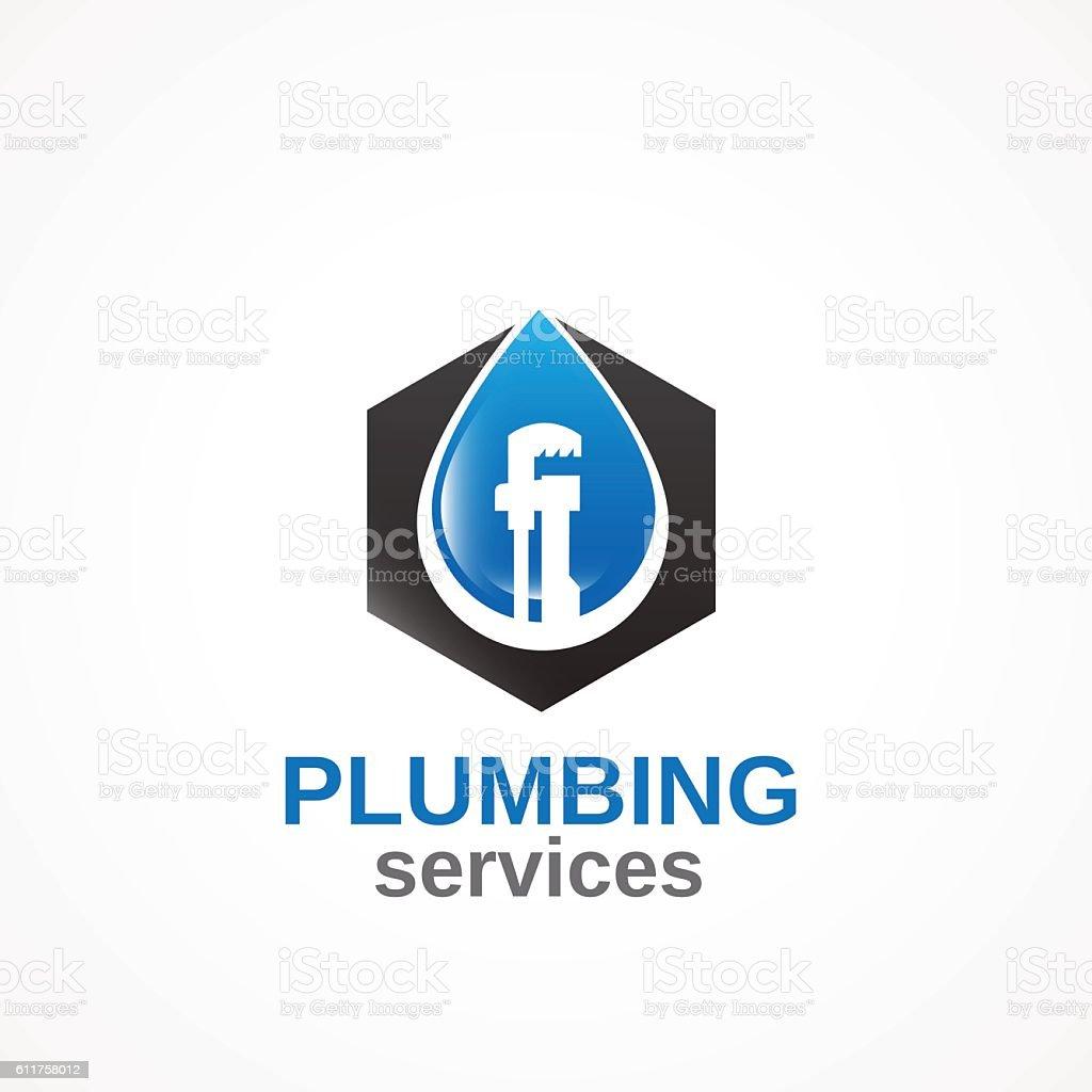 Plumbing Services v2. vector art illustration