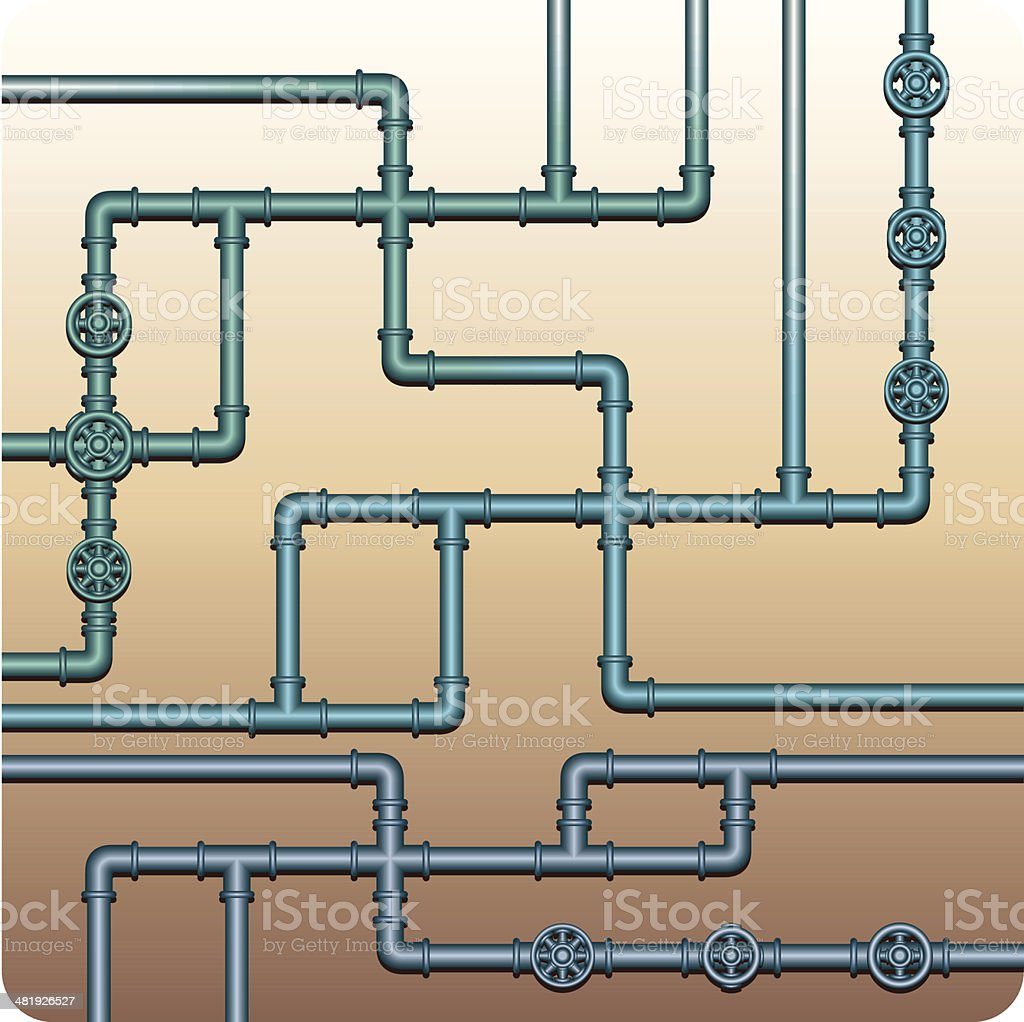 Plumbing Tubes royalty-free stock vector art