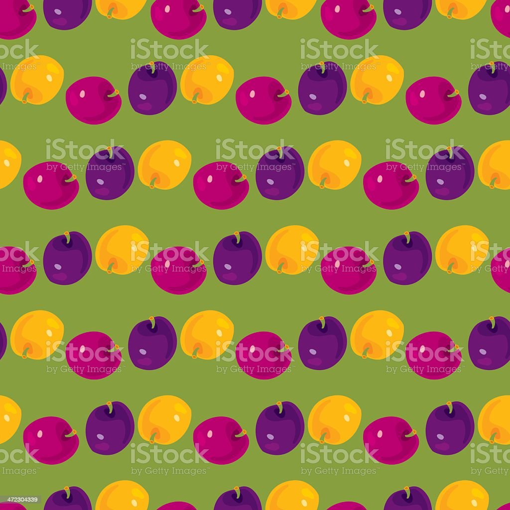 Plums Pattern royalty-free stock vector art