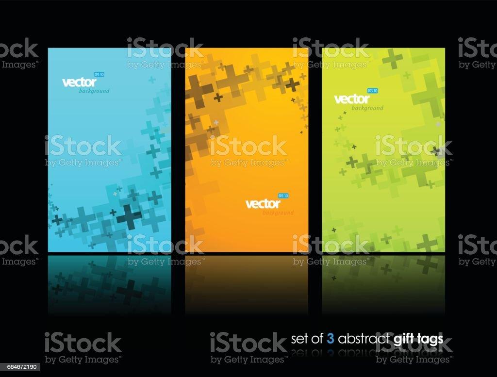 Plus sign abstract background wallpaper set. vector art illustration