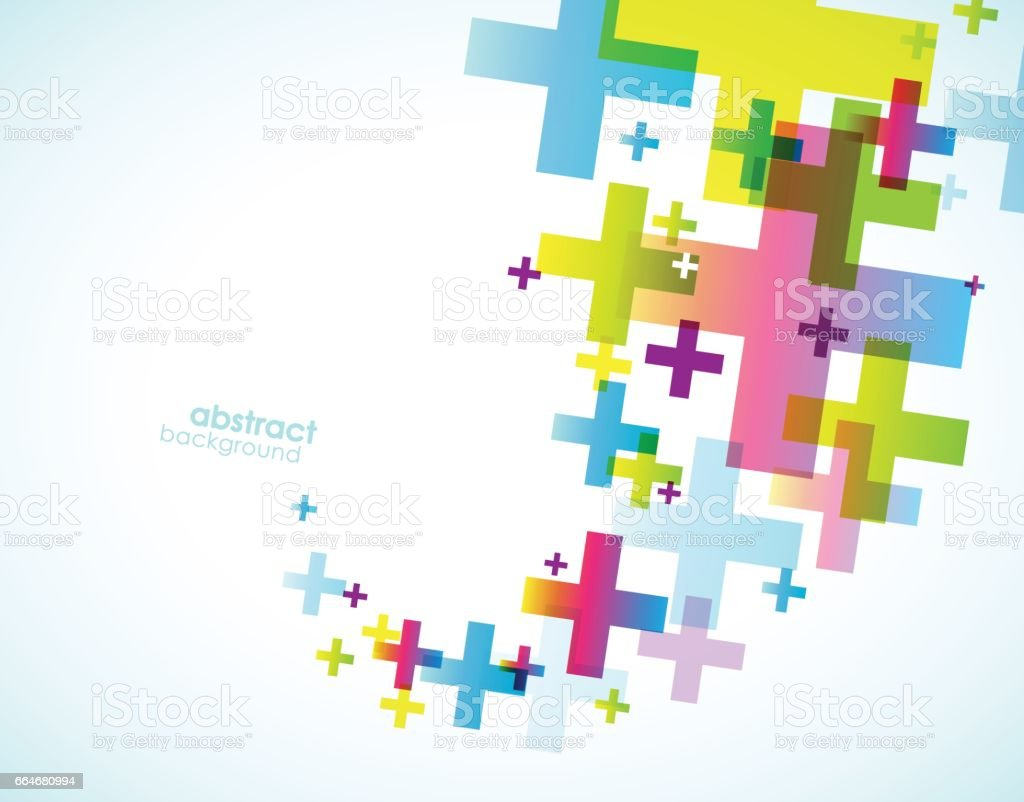 Plus sign abstract background wallpaper. vector art illustration