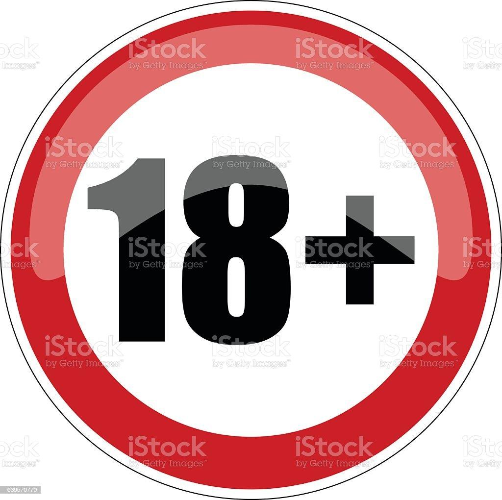 18 Plus Sign, Vector Illustration. vector art illustration