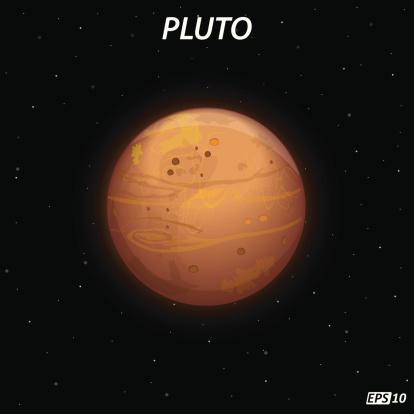 Pluto Dwarf Planet Clip Art, Vector Images & Illustrations ...