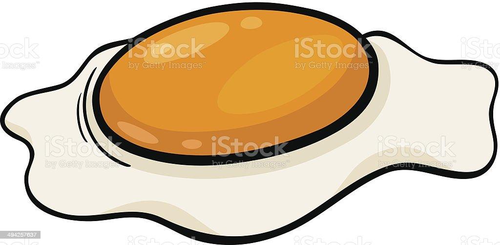 poached egg cartoon illustration vector art illustration