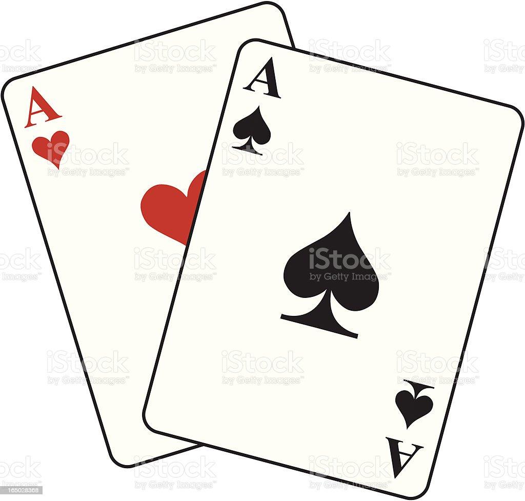 Pocket Aces royalty-free stock vector art