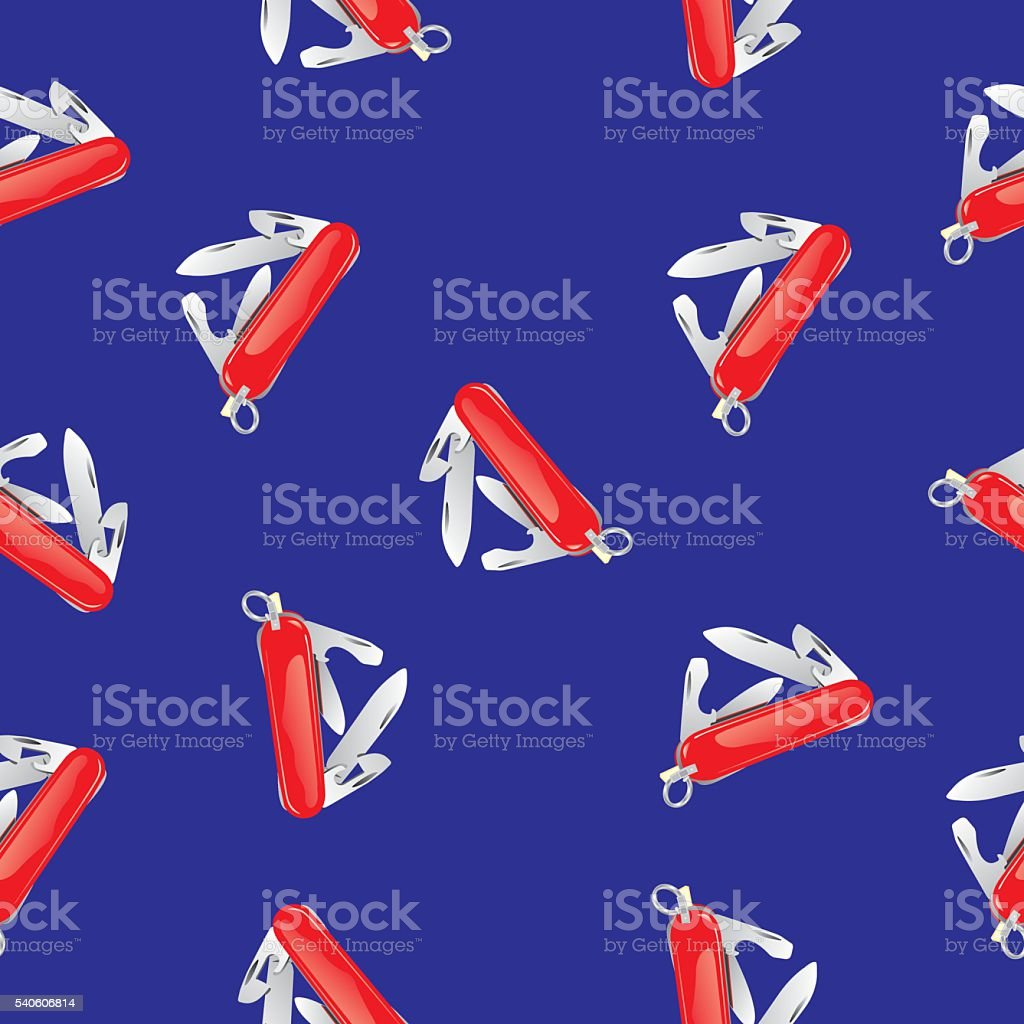 Pocket Knife Pattern vector art illustration