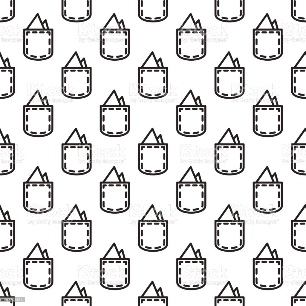 Pocket square gentleman seamless pattern vector art illustration