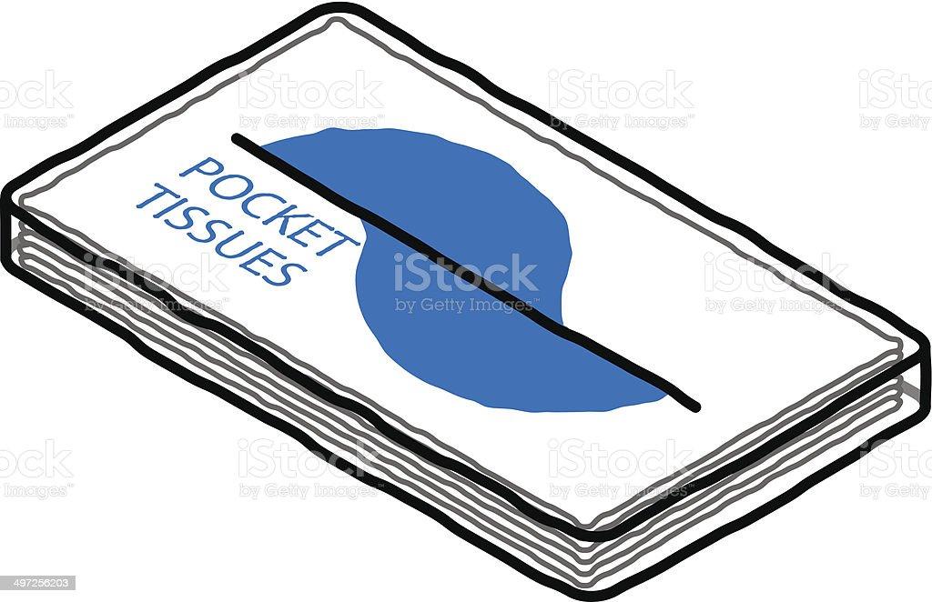 Pocket Tissues vector art illustration