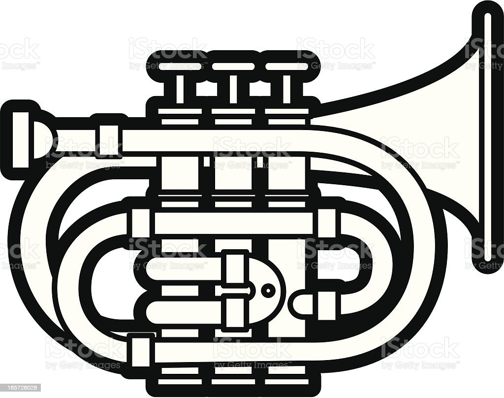 Pocket Trumpet royalty-free stock vector art